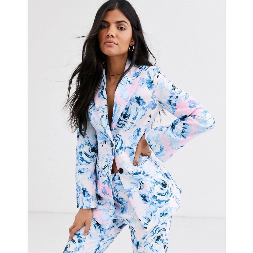 エイソス ASOS DESIGN レディース スーツ・ジャケット アウター【pink floral suit blazer】Floral
