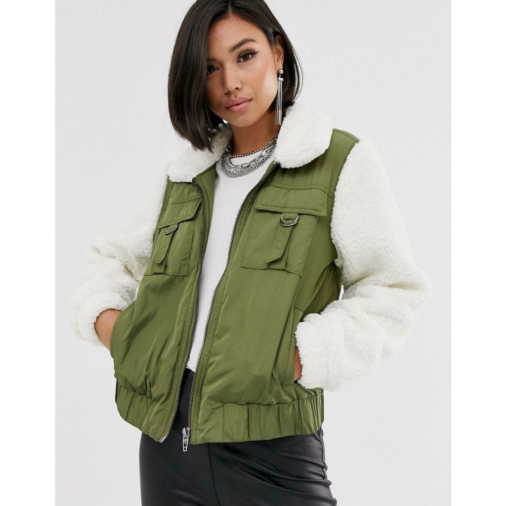 ブランクニューヨーク BLANK NYC レディース ジャケット アウター【borg contrast utility jacket】Take it easy