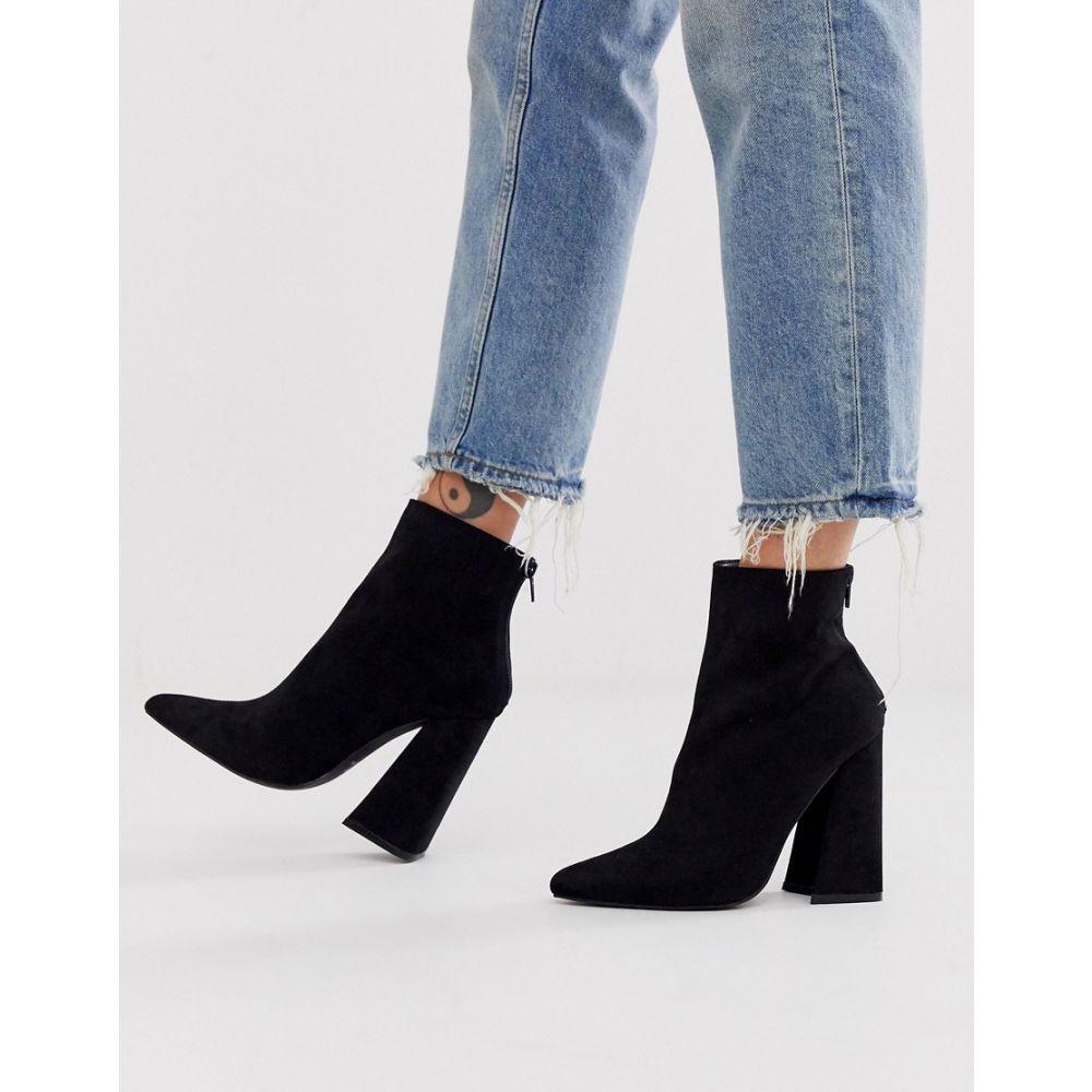 コー レン Co Wren レディース ブーツ シューズ・靴【curved block heeled boots in black】Black