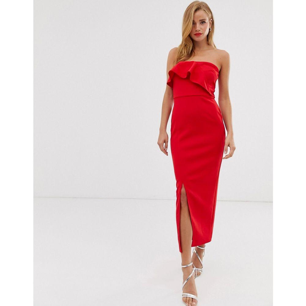 トゥルーヴァイオレット True Violet レディース ワンピース ワンピース・ドレス【drape frill midaxi dress】Red