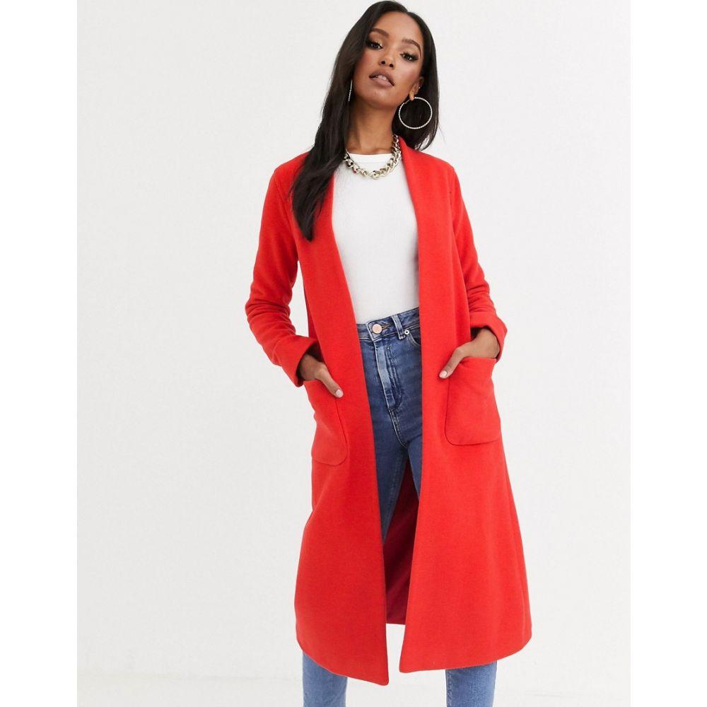 ヘレン バーマン Helene Berman レディース コート アウター【edge to edge duster coat in wool blend】Red