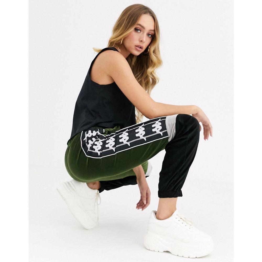 カッパ Kappa レディース ジョガーパンツ ボトムス・パンツ【serena panelled joggers】Green/greymist/black
