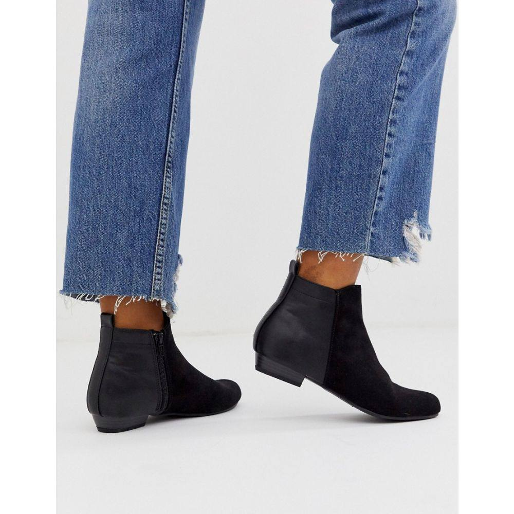 ヘッドオーバーヒールズ Head Over Heels by Dune レディース ブーツ ショートブーツ シューズ・靴【head over heels perey black flat ankle boot】Black microfibre