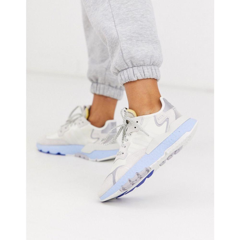 アディダス adidas Originals レディース ジョガーパンツ ボトムス・パンツ【nite jogger trainer in white and blue】Off white