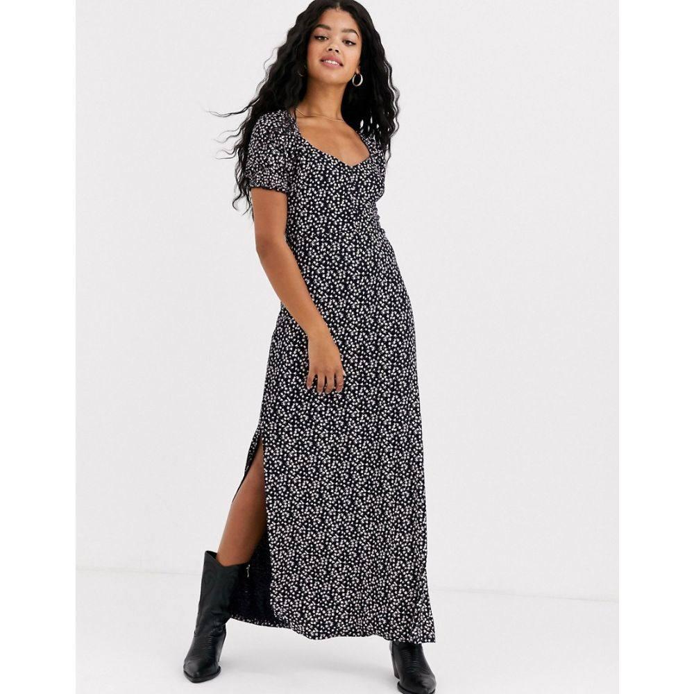 ミス セルフリッジ Miss Selfridge レディース ワンピース ワンピース・ドレス【maxi dress in floral print】Black
