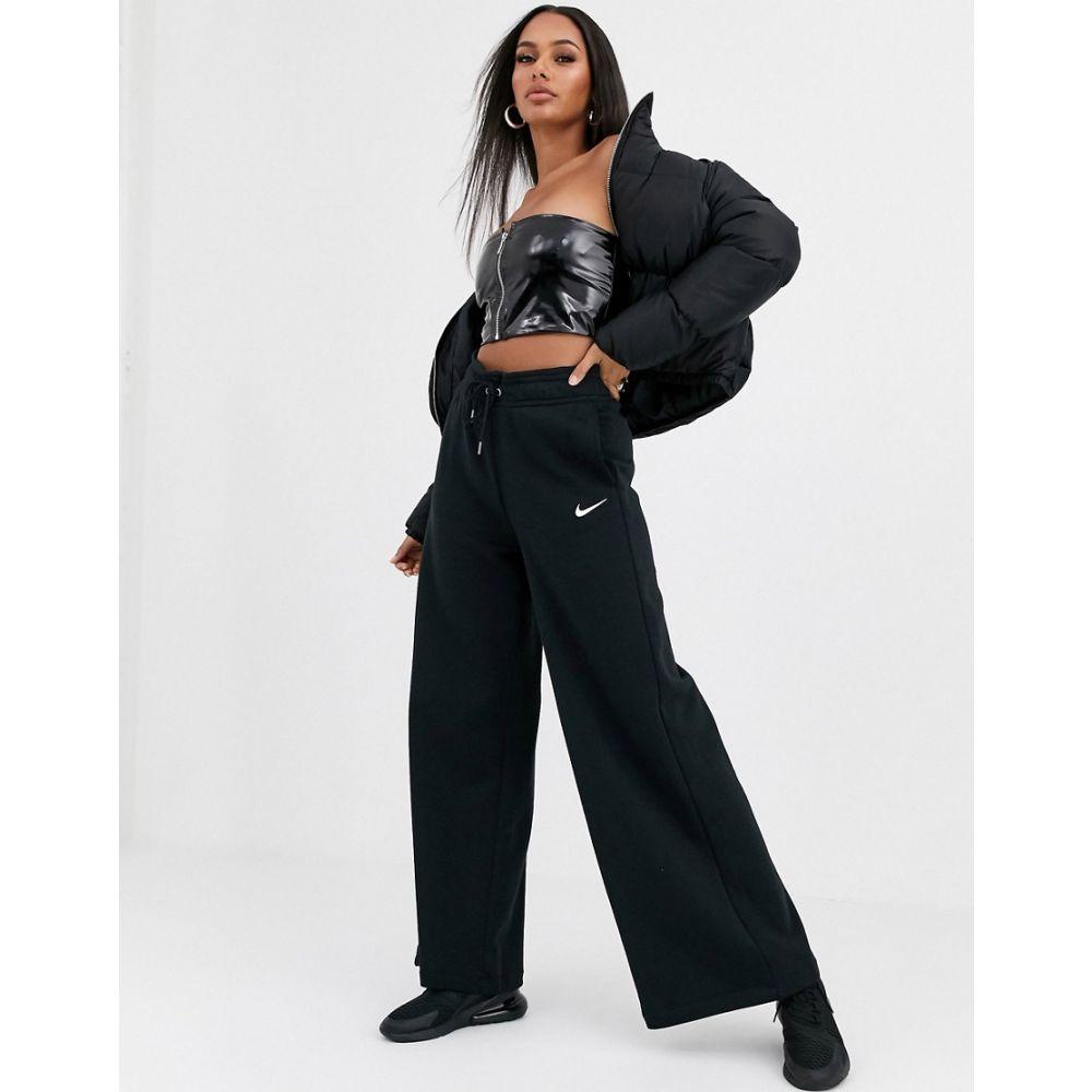 ナイキ Nike レディース ジョガーパンツ ワイドパンツ ボトムス・パンツ【black wide leg high waist joggers】Black