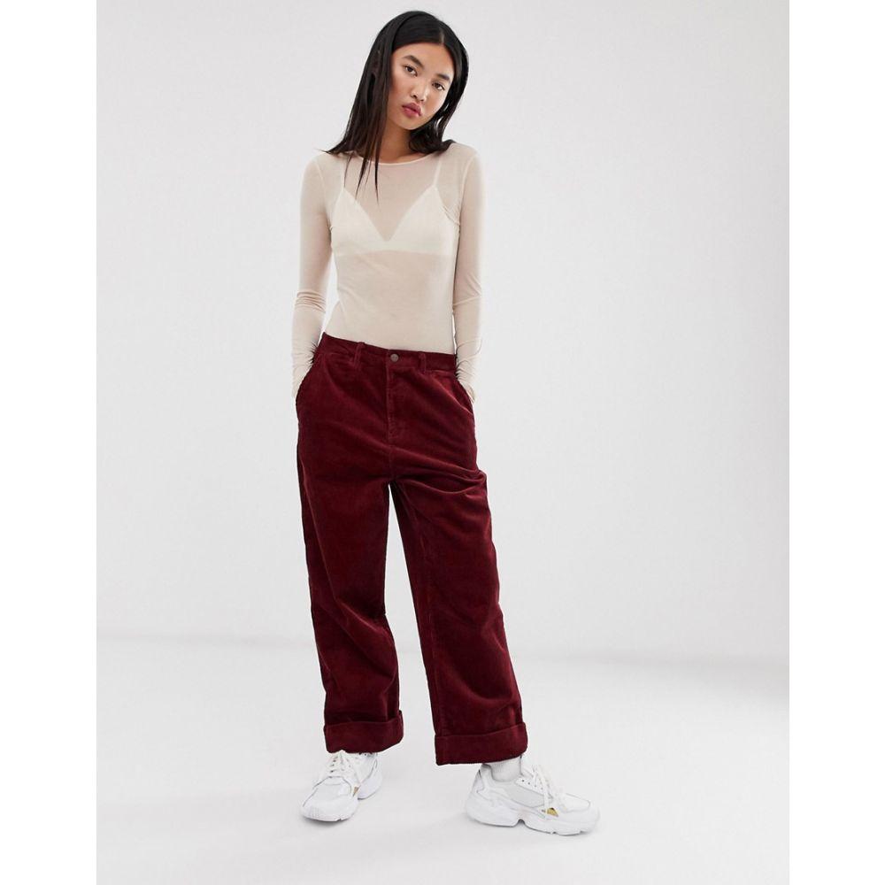 ペペジーンズ Pepe Jeans レディース ボトムス・パンツ 【carley straight cut corduroy trousers】burgundy