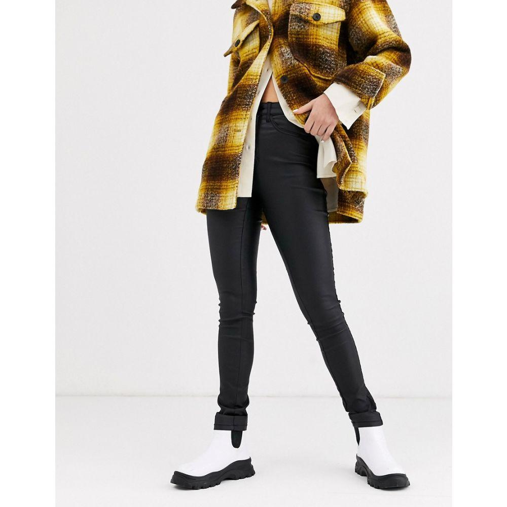 オンリー Only レディース ジーンズ・デニム ボトムス・パンツ【coated skinny jeans】Black