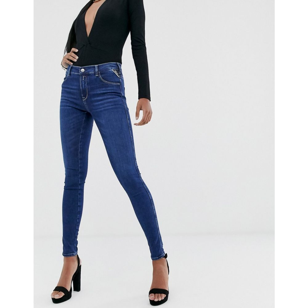 リプレイ Replay レディース ジーンズ・デニム ボトムス・パンツ【stella super skinny jeans with power stretch】Blue