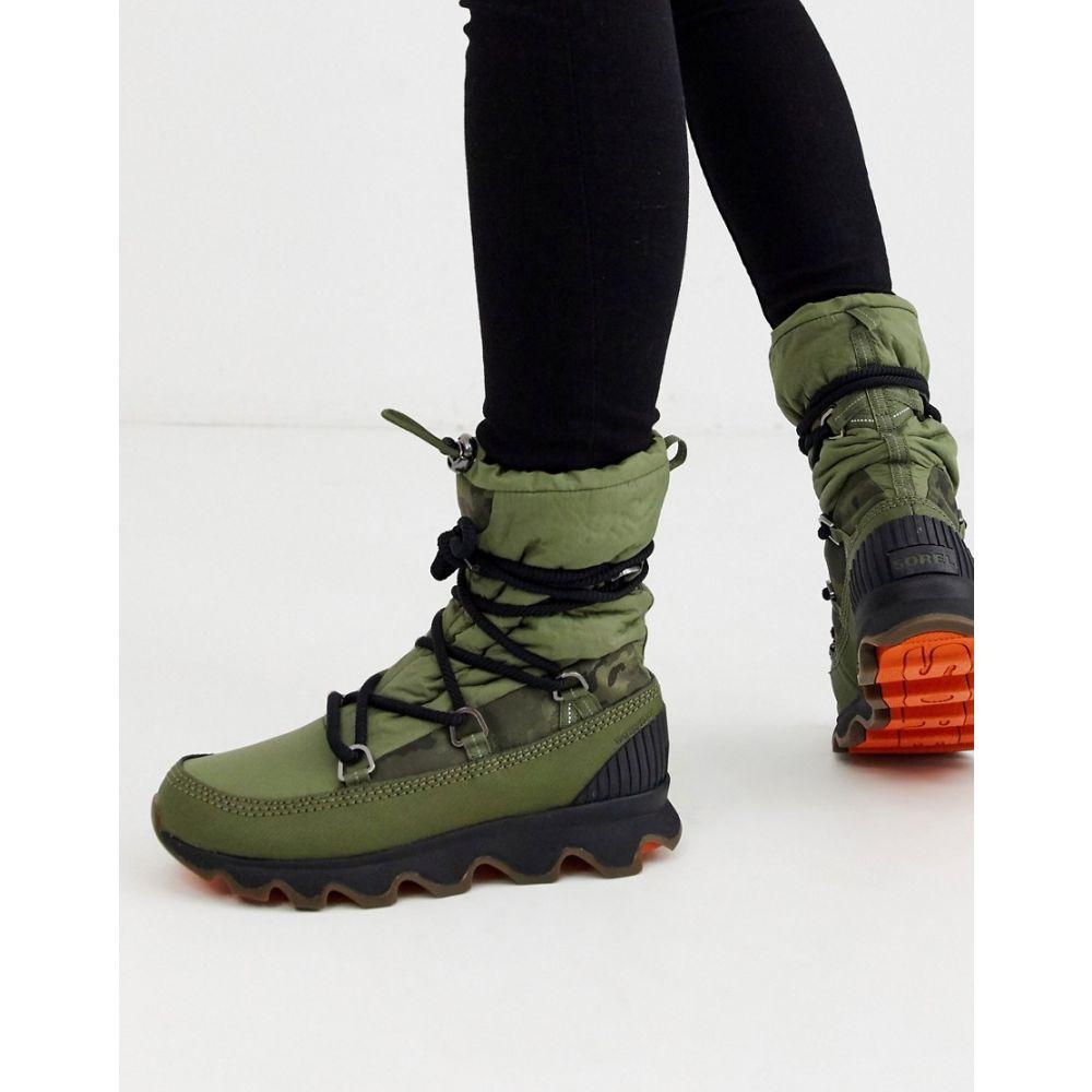ソレル Sorel レディース ブーツ レースアップブーツ シューズ・靴【waterproof kinetic lace up boot in green】Hiker green