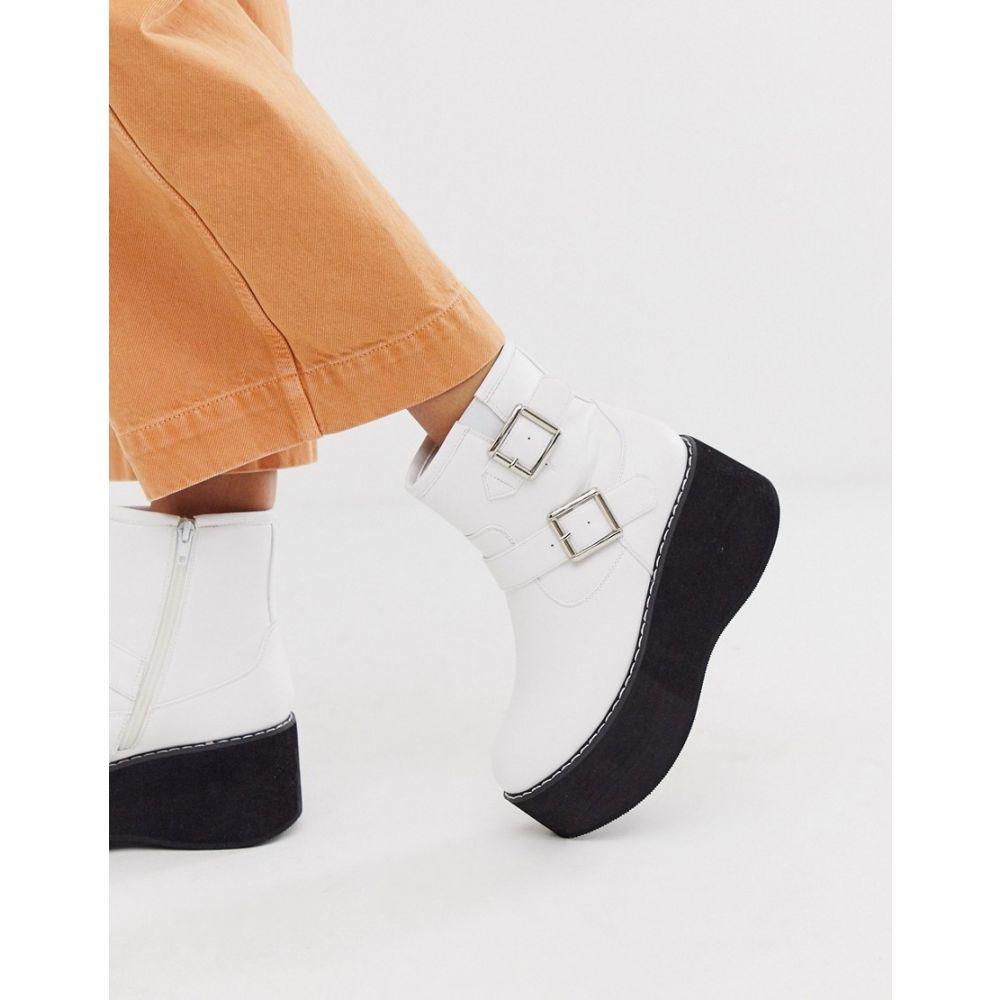 トリュフコレクション Truffle Collection レディース ブーツ ショートブーツ チャンキーヒール シューズ・靴【chunky ankle boot in white】White