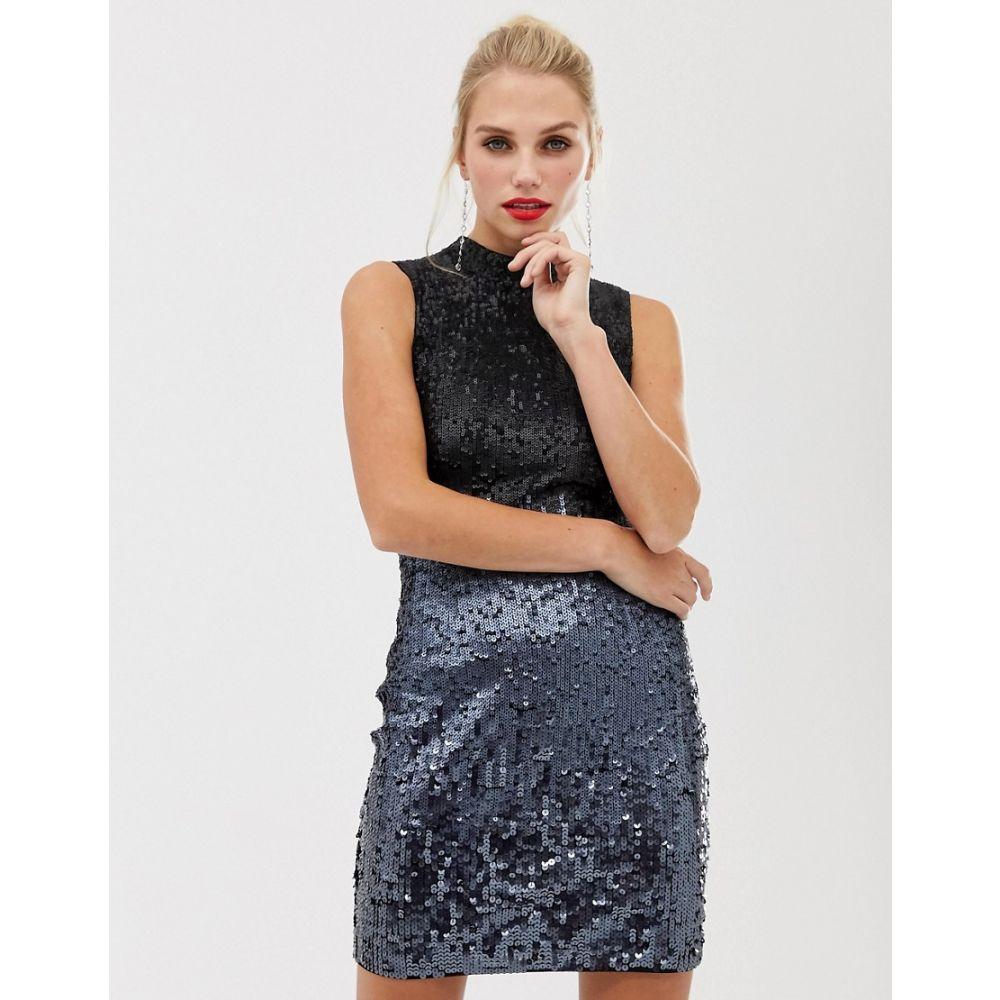 フレンチコネクション French Connection レディース ワンピース ワンピース・ドレス【starlight sequined high neck dress】Gunmetal