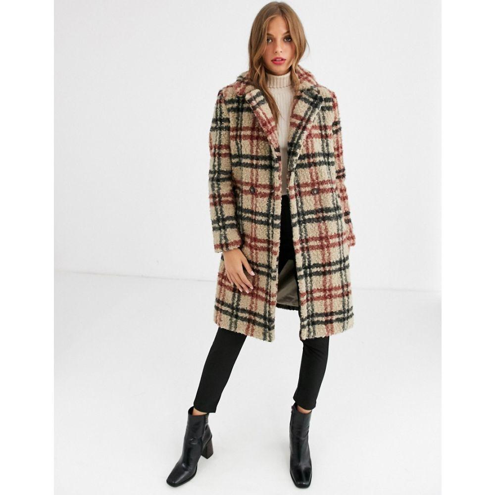 ヴェロモーダ Vero Moda レディース コート テディベアコート アウター【checked teddy coat】Multi