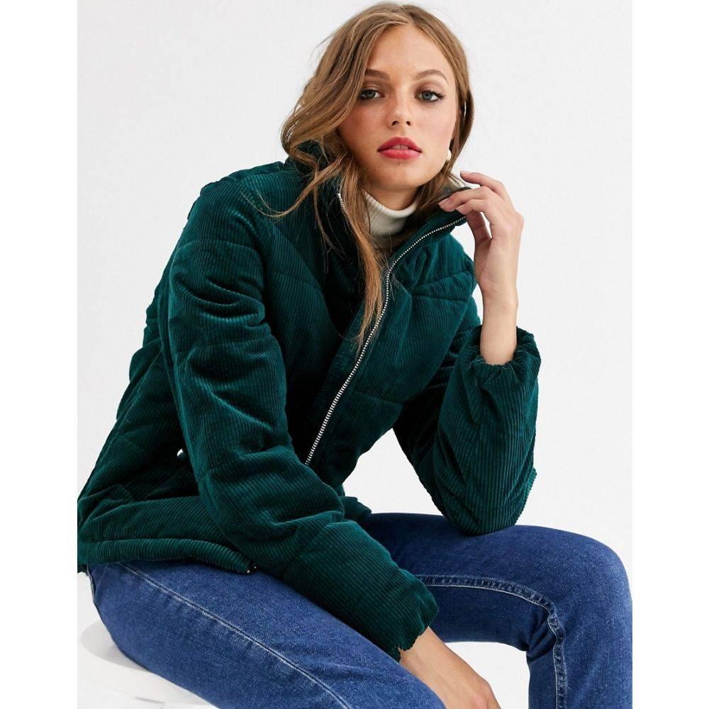 ヴェロモーダ Vero Moda レディース ダウン・中綿ジャケット アウター【cord velvet padded jacket】Green
