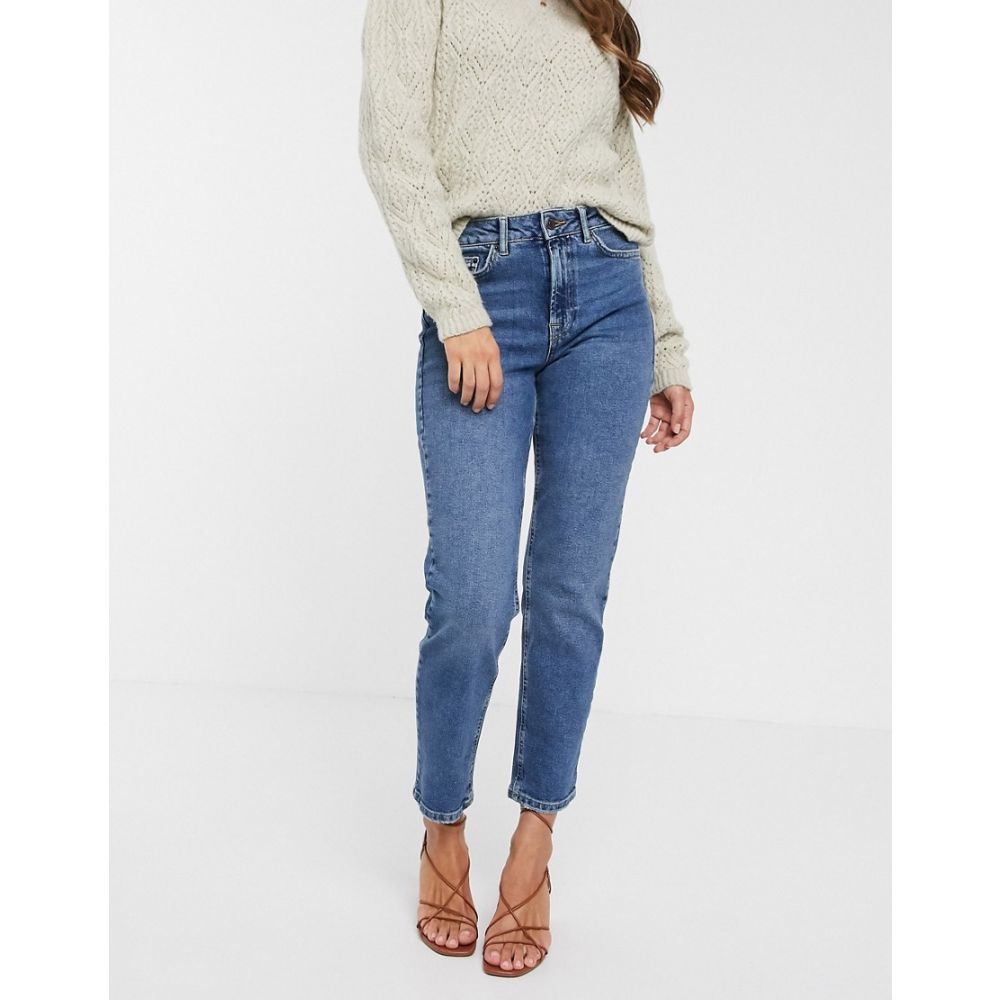 ヴェロモーダ Vero Moda レディース ジーンズ・デニム ボトムス・パンツ【organic cotton straight leg jeans in mid blue】Mbd