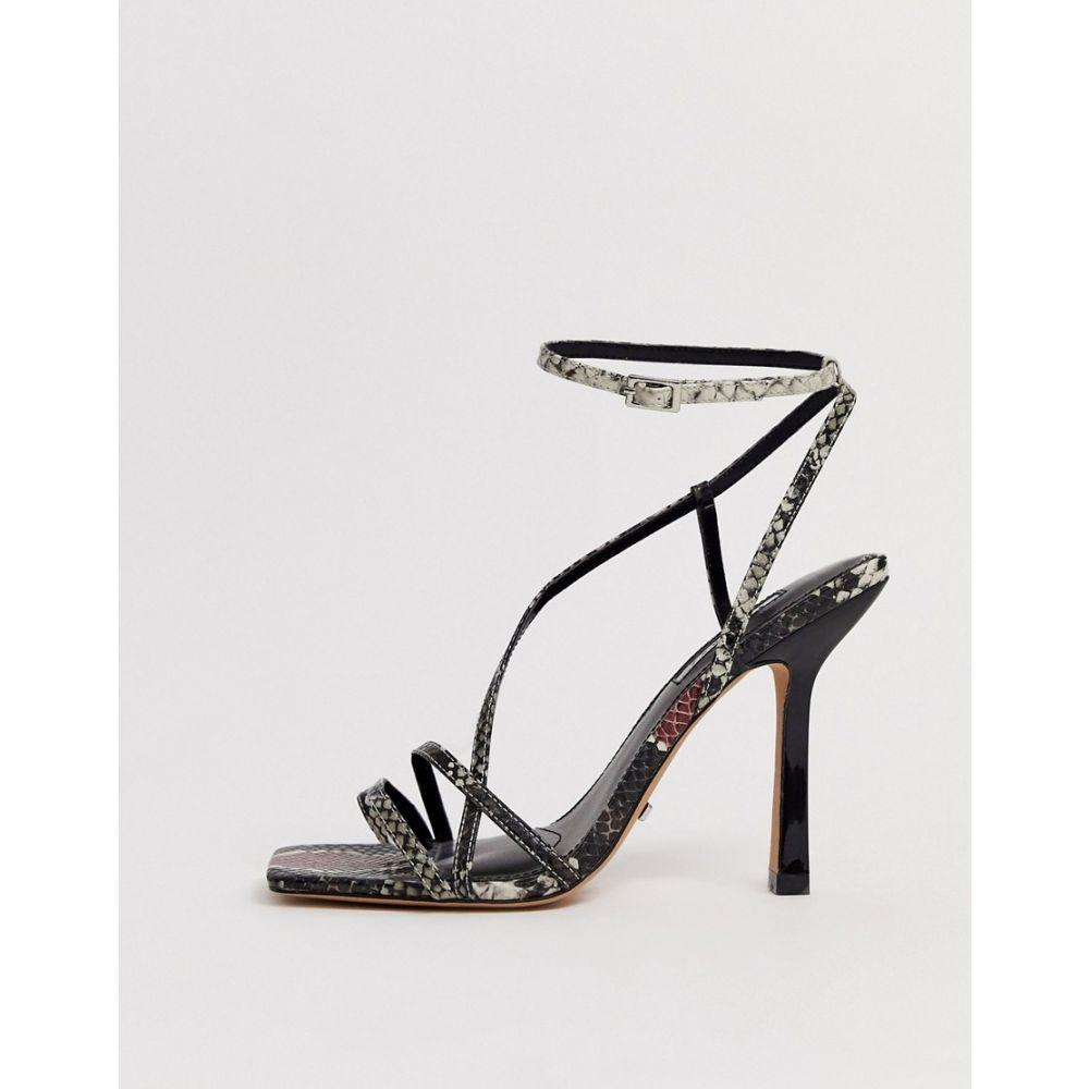 トップショップ Topshop レディース サンダル・ミュール スクエアトゥ シューズ・靴【strappy heeled sandals with square toe in snake】Multi