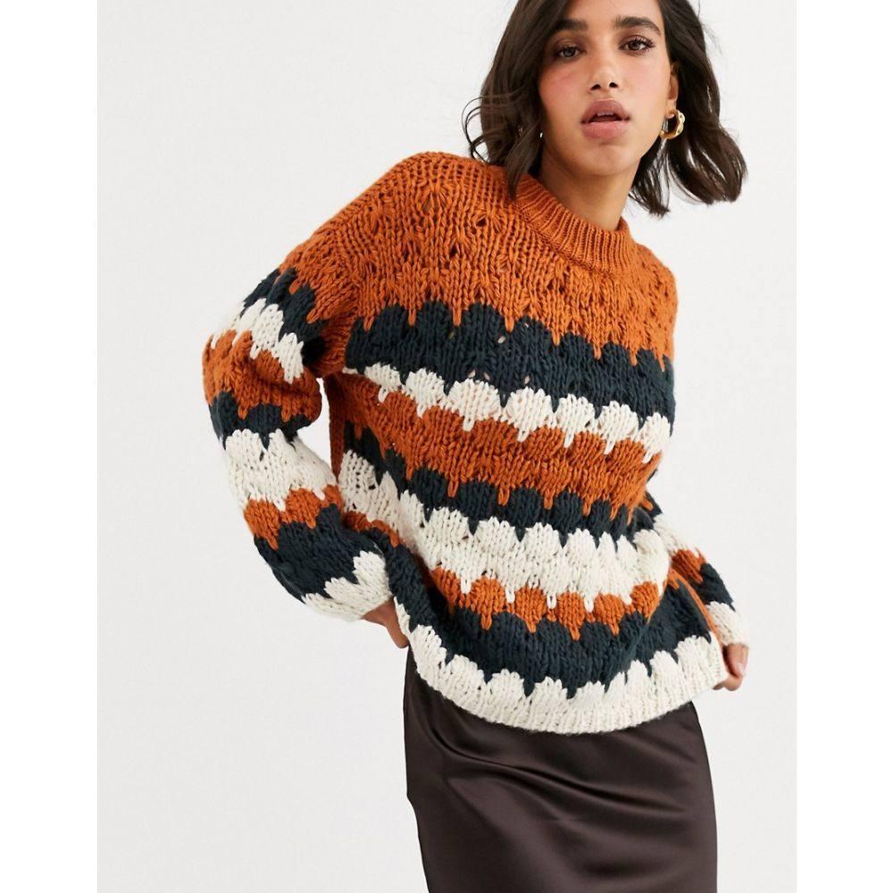 ワイ エー エス Y.A.S レディース ニット・セーター トップス【high neck graphic knit jumper】Multi