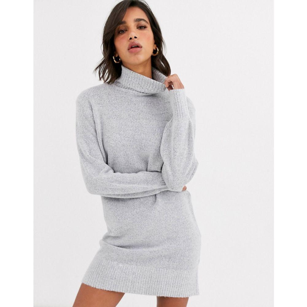 ヴィラ Vila レディース ワンピース ワンピース・ドレス【roll neck dress with wide cuff】Grey