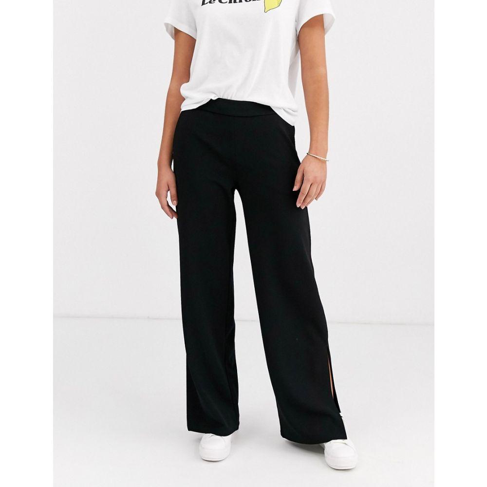 ワイ エー エス Y.A.S レディース ボトムス・パンツ ワイドパンツ【wide leg trouser with split detail】Black