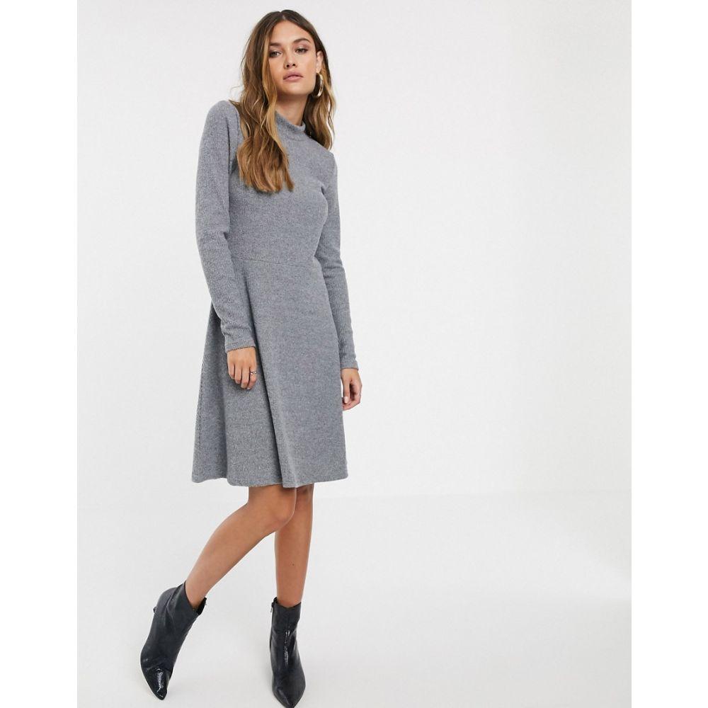 ワイ エー エス Y.A.S レディース ワンピース ミニ丈 ワンピース・ドレス【rib knitted mini dress】Grey
