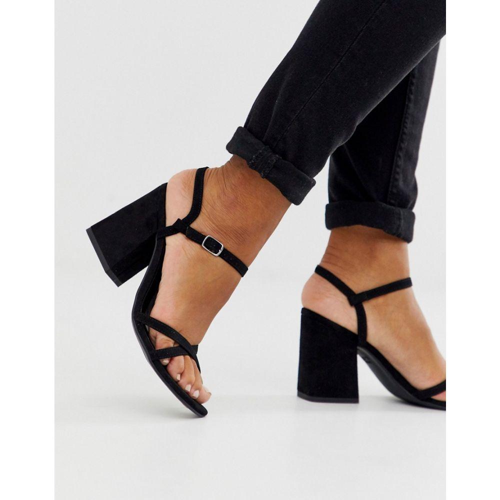 ニュールック New Look レディース サンダル・ミュール シューズ・靴【low block barely there sandal in black pu】Black