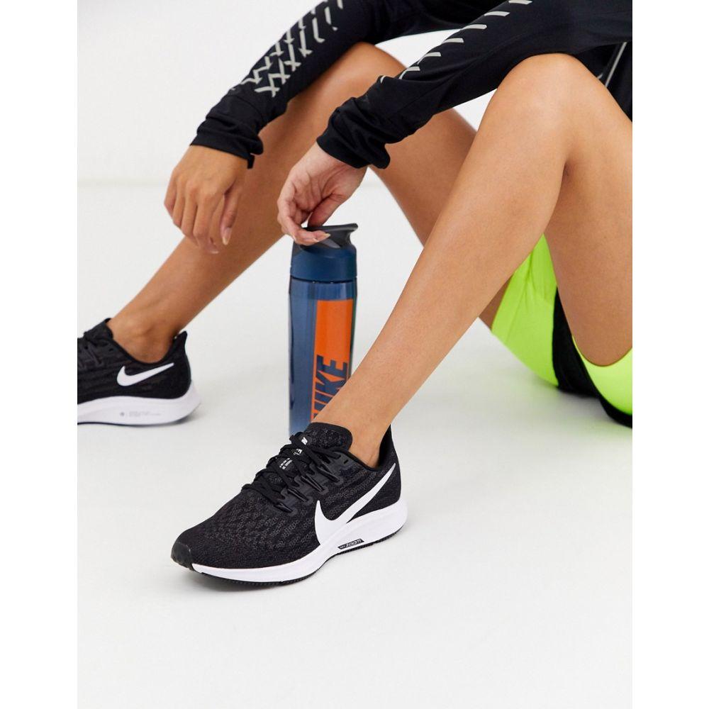 ナイキ Nike Running レディース スニーカー シューズ・靴【pegagus 36 trainers in black】Black/white