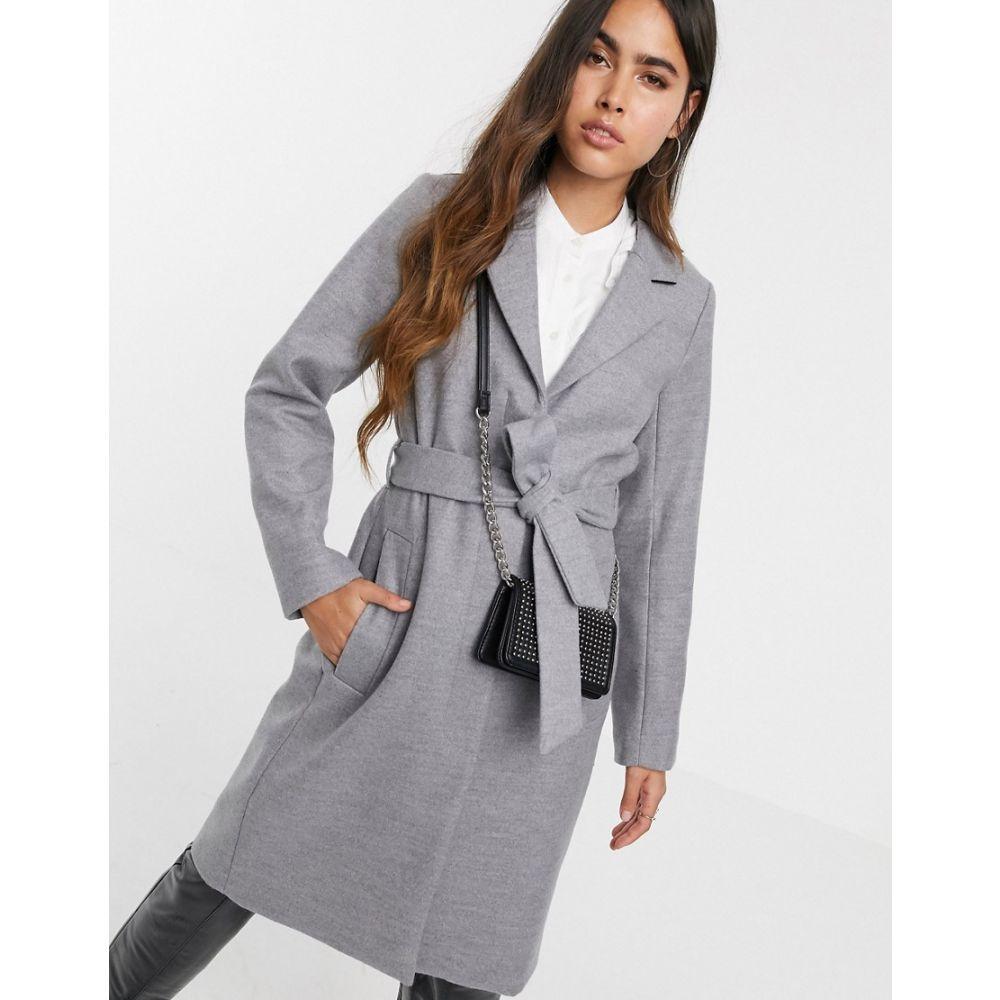ウェアハウス Warehouse レディース コート アウター【tailored coat with belt in grey】Grey