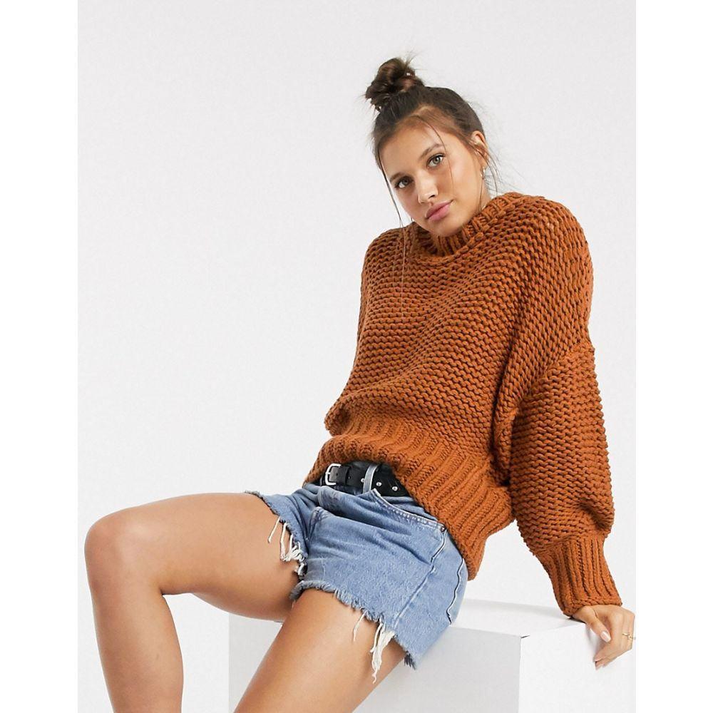 フリーピープル Free People レディース ニット・セーター トップス【My Only Sunshine chunky knit jumper】Copper