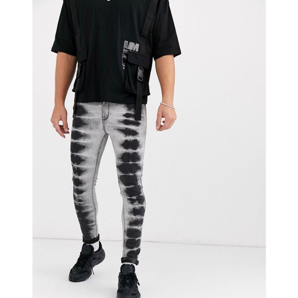 エイソス ASOS DESIGN メンズ ジーンズ・デニム ボトムス・パンツ【spray on jeans in power stretch in black tie dye】Black