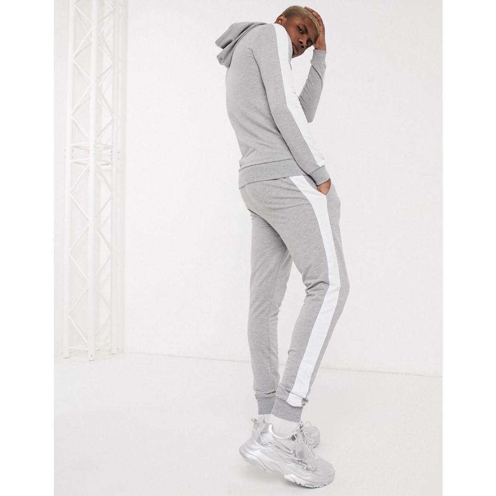 エイソス ASOS DESIGN メンズ パーカー トップス【muscle tracksuit with hoodie & side stripe in grey marl】Grey marl