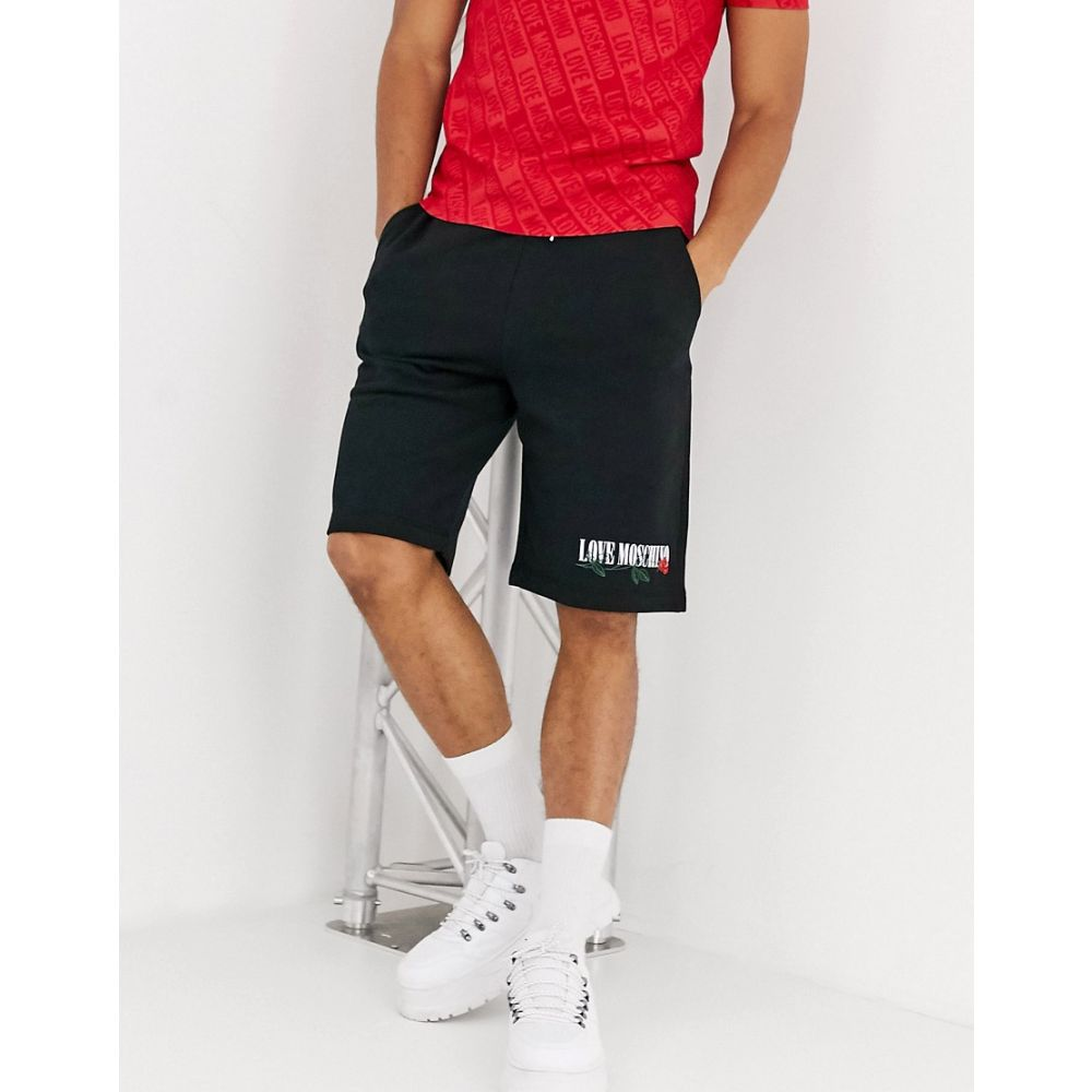 モスキーノ Love Moschino メンズ ショートパンツ ボトムス・パンツ【rose jersey shorts】Black
