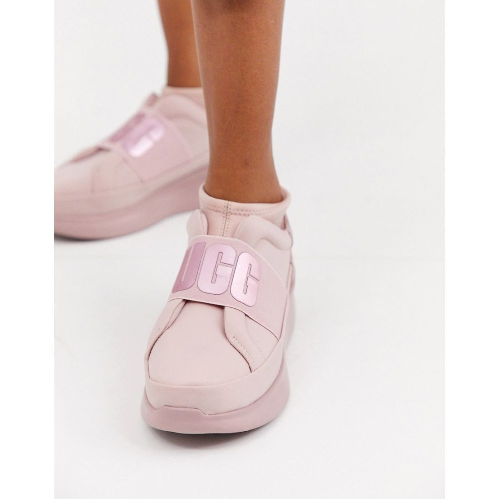 アグ UGG レディース スニーカー シューズ・靴【Neutra Metallic logo trainers in pink】Pink crystal metall