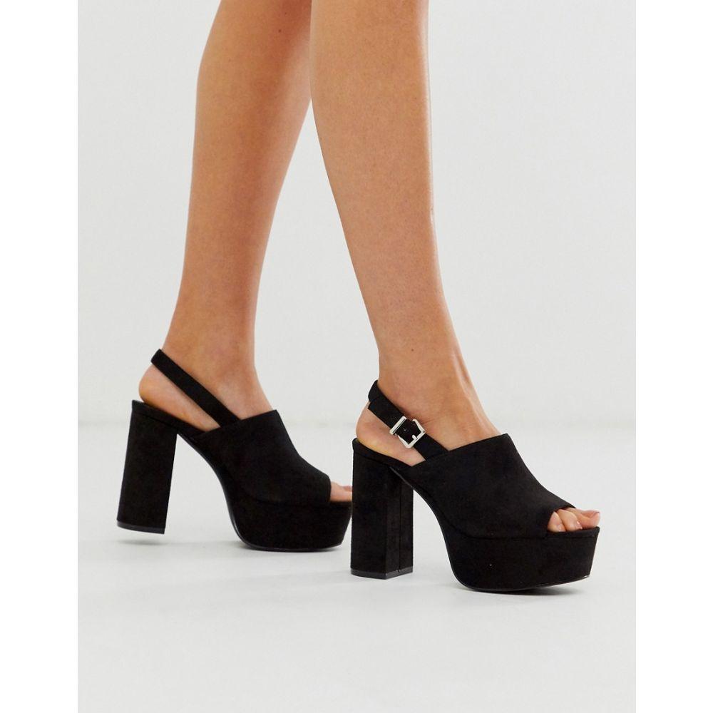 トリュフコレクション Truffle Collection レディース サンダル・ミュール シューズ・靴【platform heeled sandal in black】Black