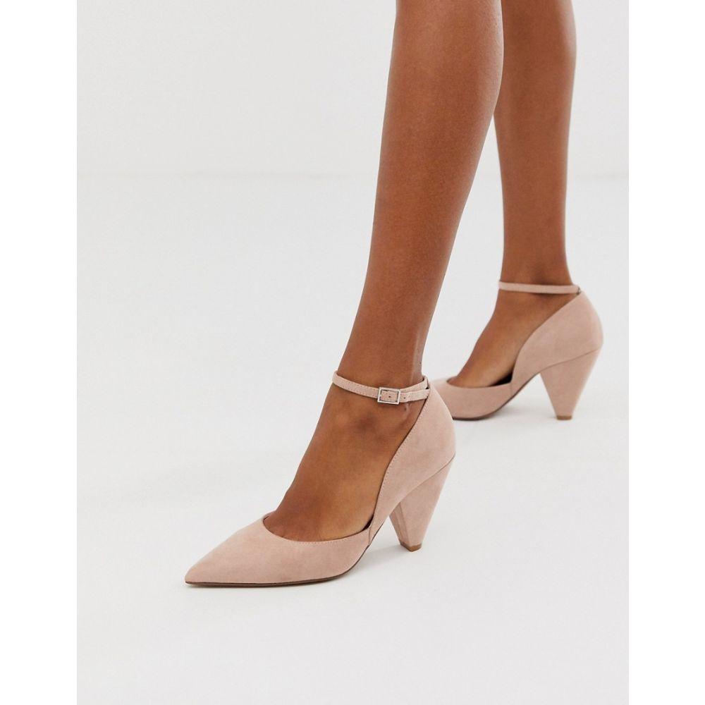 エイソス ASOS DESIGN レディース ヒール シューズ・靴【Speak Out pointed mid-heels in beige】Beige