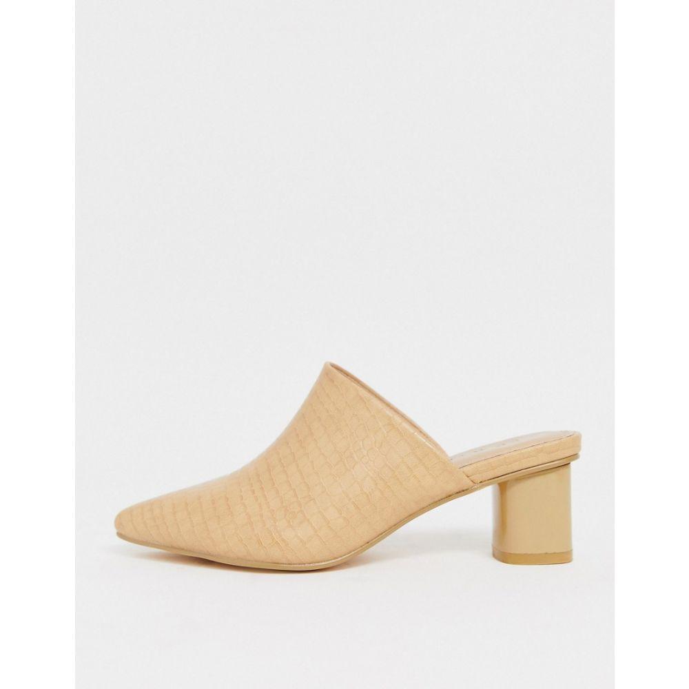 コー レン Co Wren レディース サンダル・ミュール シューズ・靴【pointed heeled mules in cream croc】Cream croc