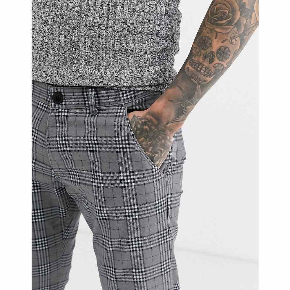 エスプリ Esprit メンズ ボトムス・パンツ 【big check trouser in grey】Grey