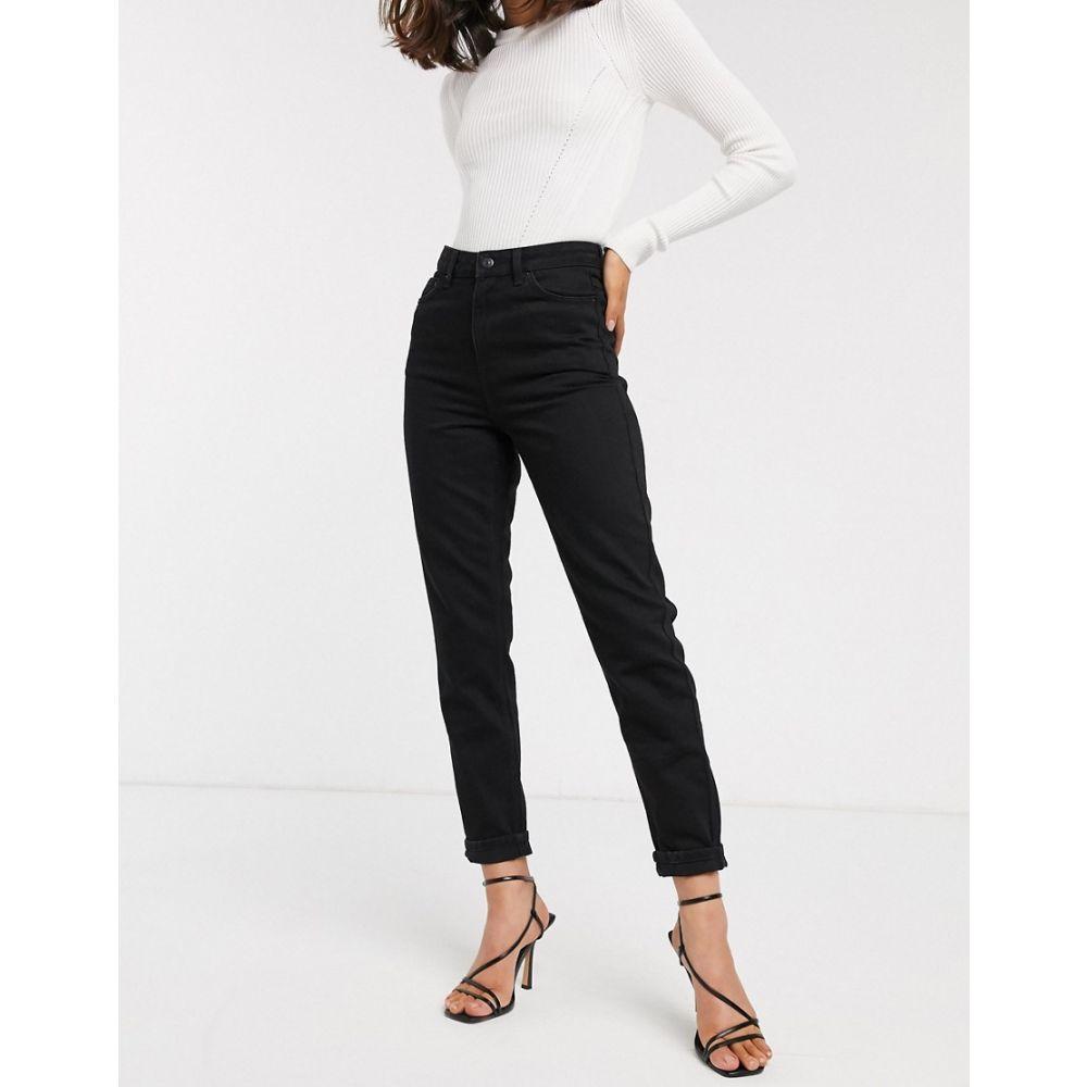 トップショップ Topshop レディース ジーンズ・デニム ボトムス・パンツ【mom jeans in black】Black