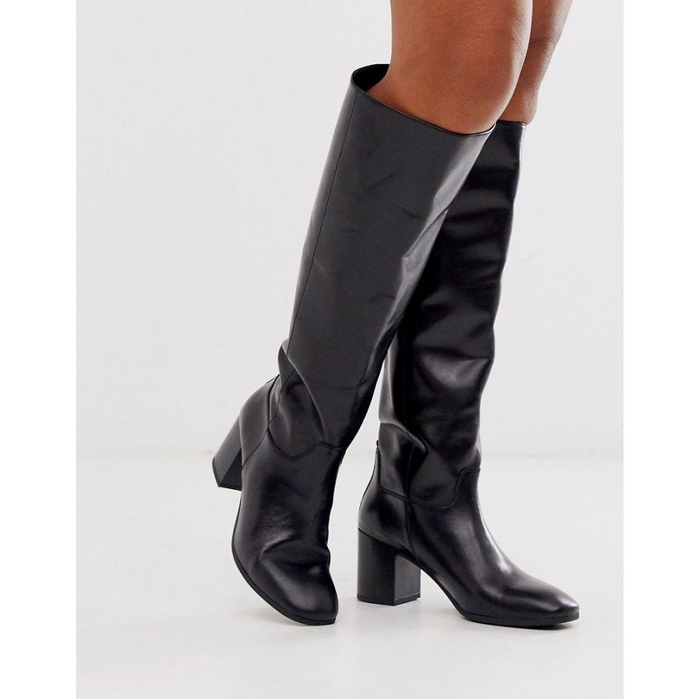 バガボンド Vagabond レディース ブーツ シューズ・靴【Nicole black leather mid heel knee high boots】Black leather