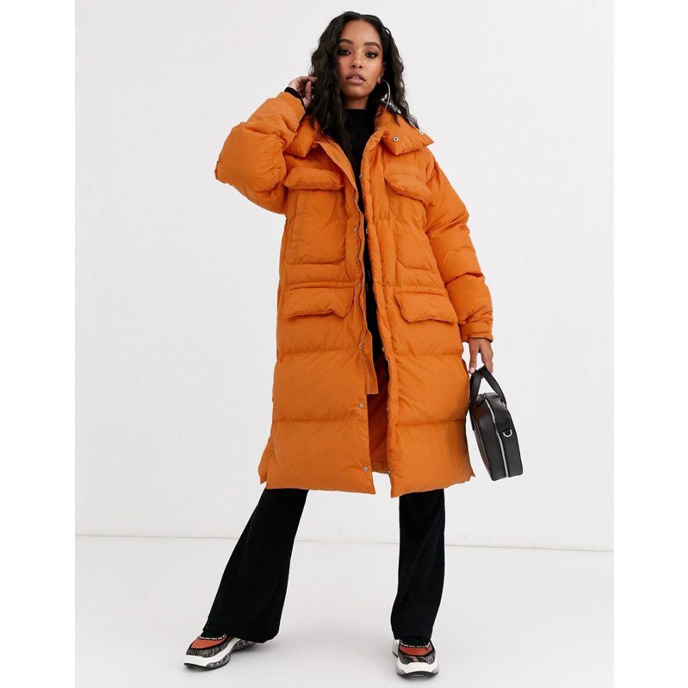 シックススジューン Sixth June レディース ダウン・中綿ジャケット ロング アウター【oversized longline padded jacket】Orange