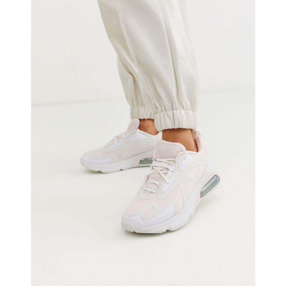 ナイキ Nike レディース スニーカー シューズ・靴【white and pink Air Max 200 trainers】Lt soft pink