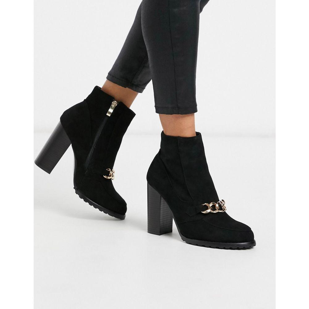コー レン Co Wren レディース ブーツ シューズ・靴【block heeled boots with chain detail】Black