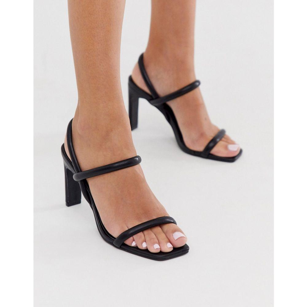 コー レン Co Wren レディース ヒール スクエアトゥ シューズ・靴【square toe barely there heels in black】Black
