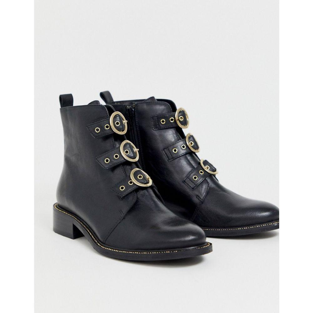 カーベラ Carvela レディース ブーツ ショートブーツ シューズ・靴【buckle ankle boot in black leather】Black leather