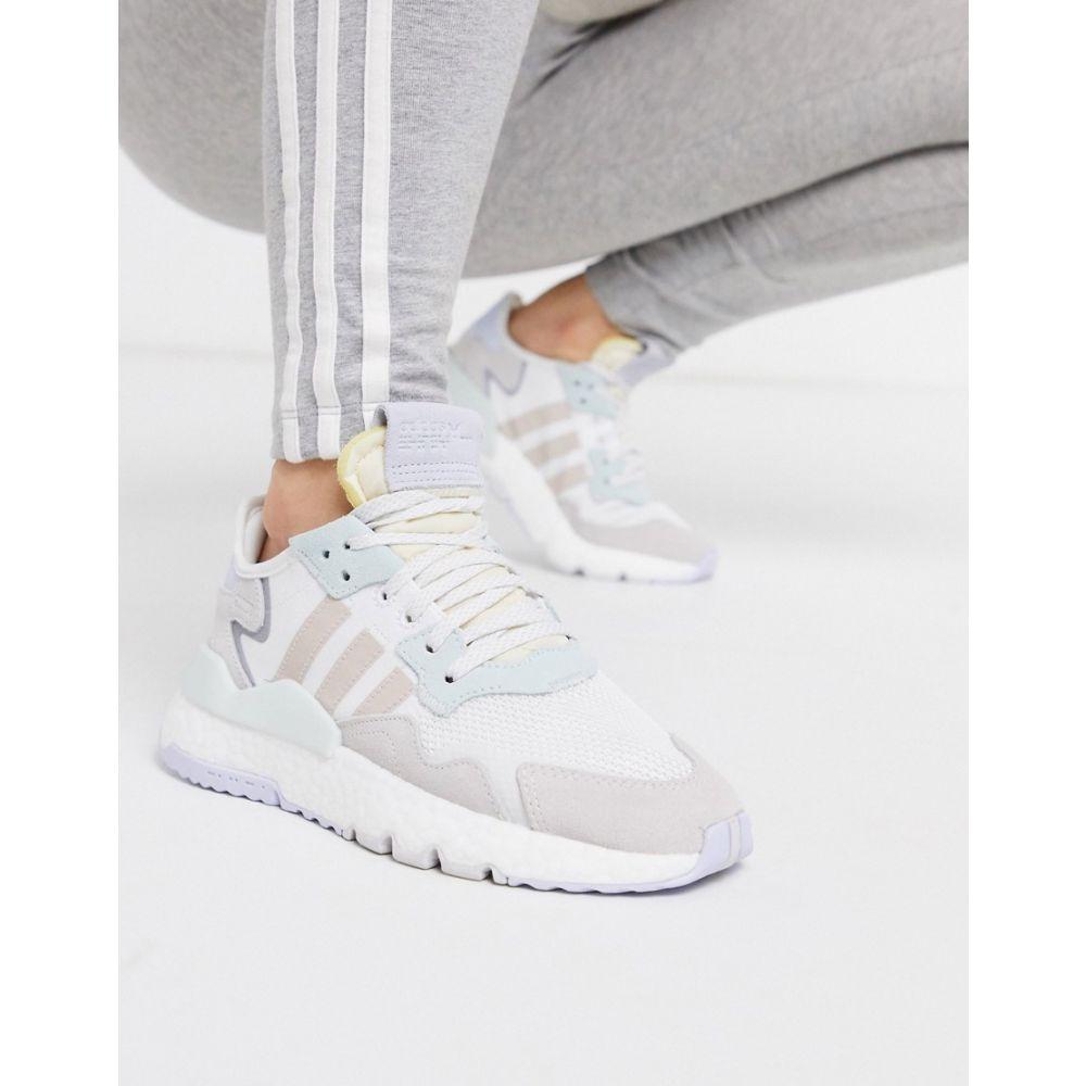 アディダス adidas Originals レディース ジョガーパンツ ボトムス・パンツ【Nite Jogger in white and ice mint】Off white/ice mint