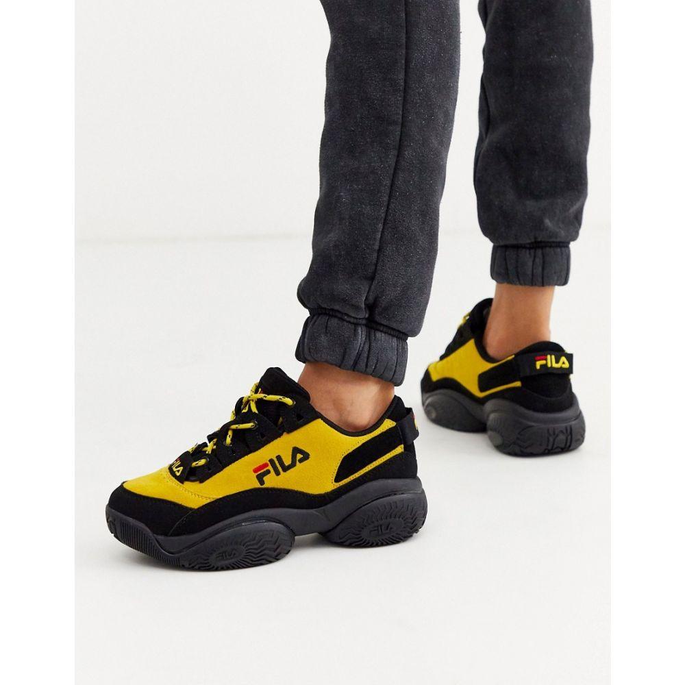 フィラ Fila レディース スニーカー シューズ・靴【Provenance trainers in black and yellow】Black