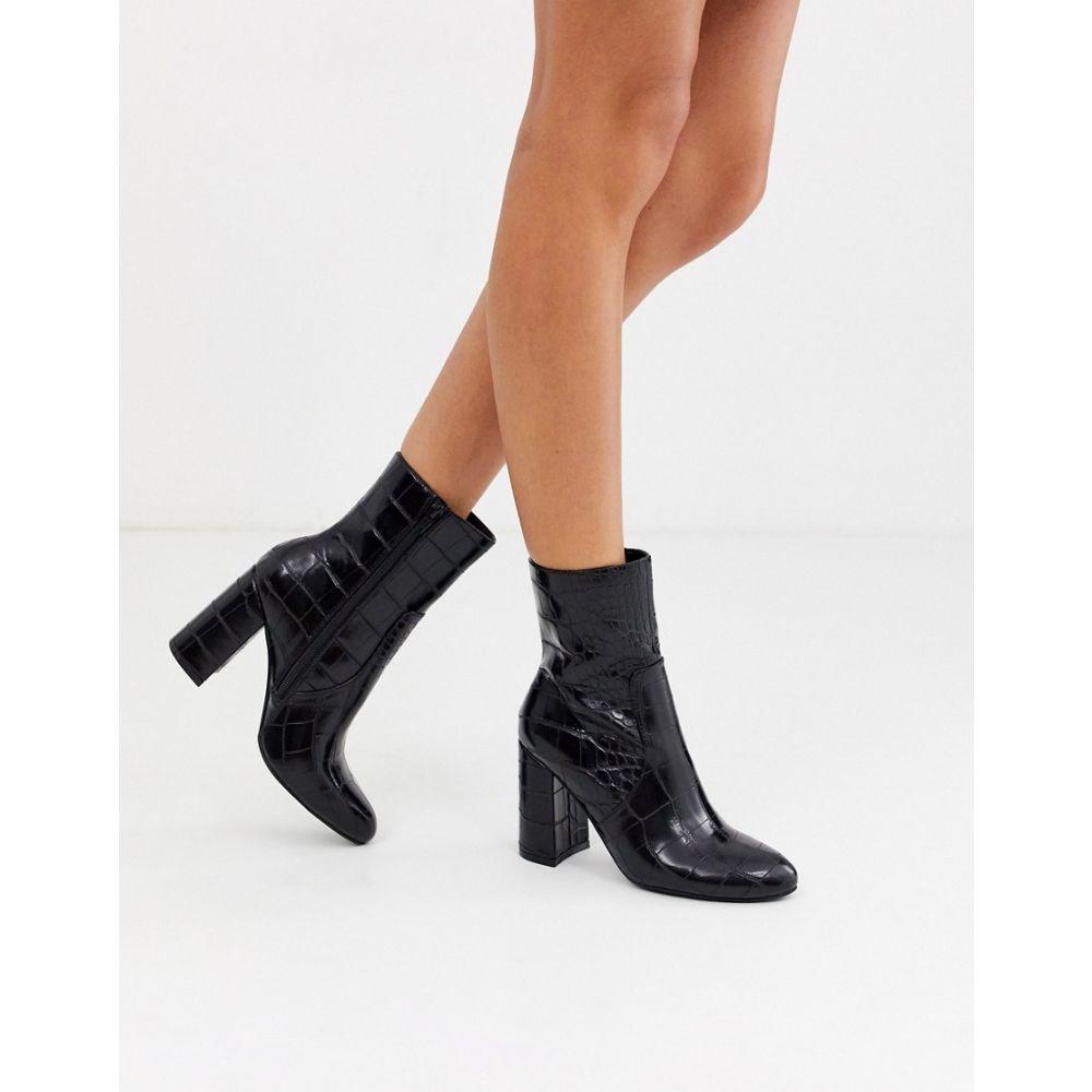 ミス セルフリッジ Miss Selfridge レディース ブーツ シューズ・靴【heeled boots in black croc】Black