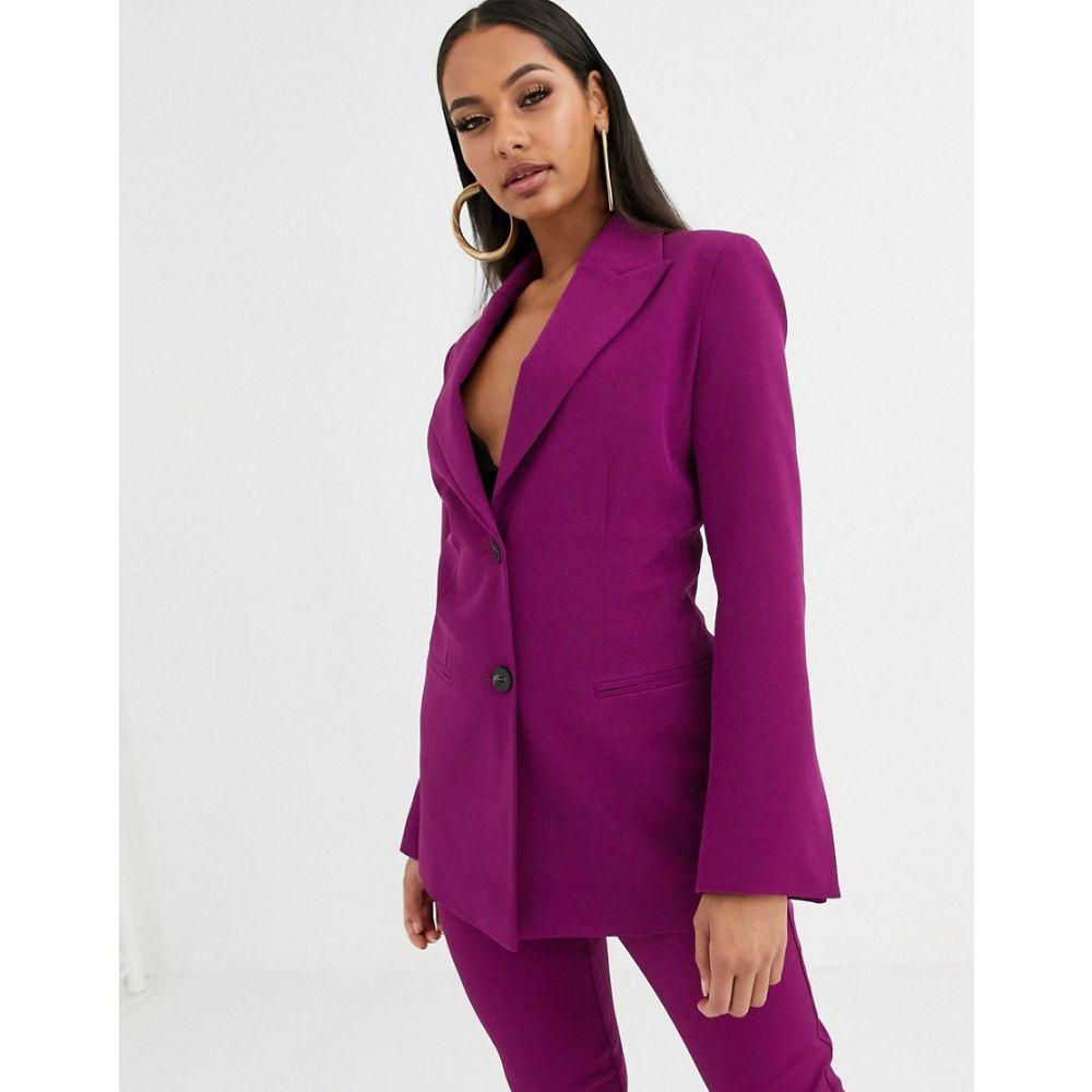 エイソス ASOS DESIGN レディース スーツ・ジャケット アウター【pop suit blazer in purple】Purple