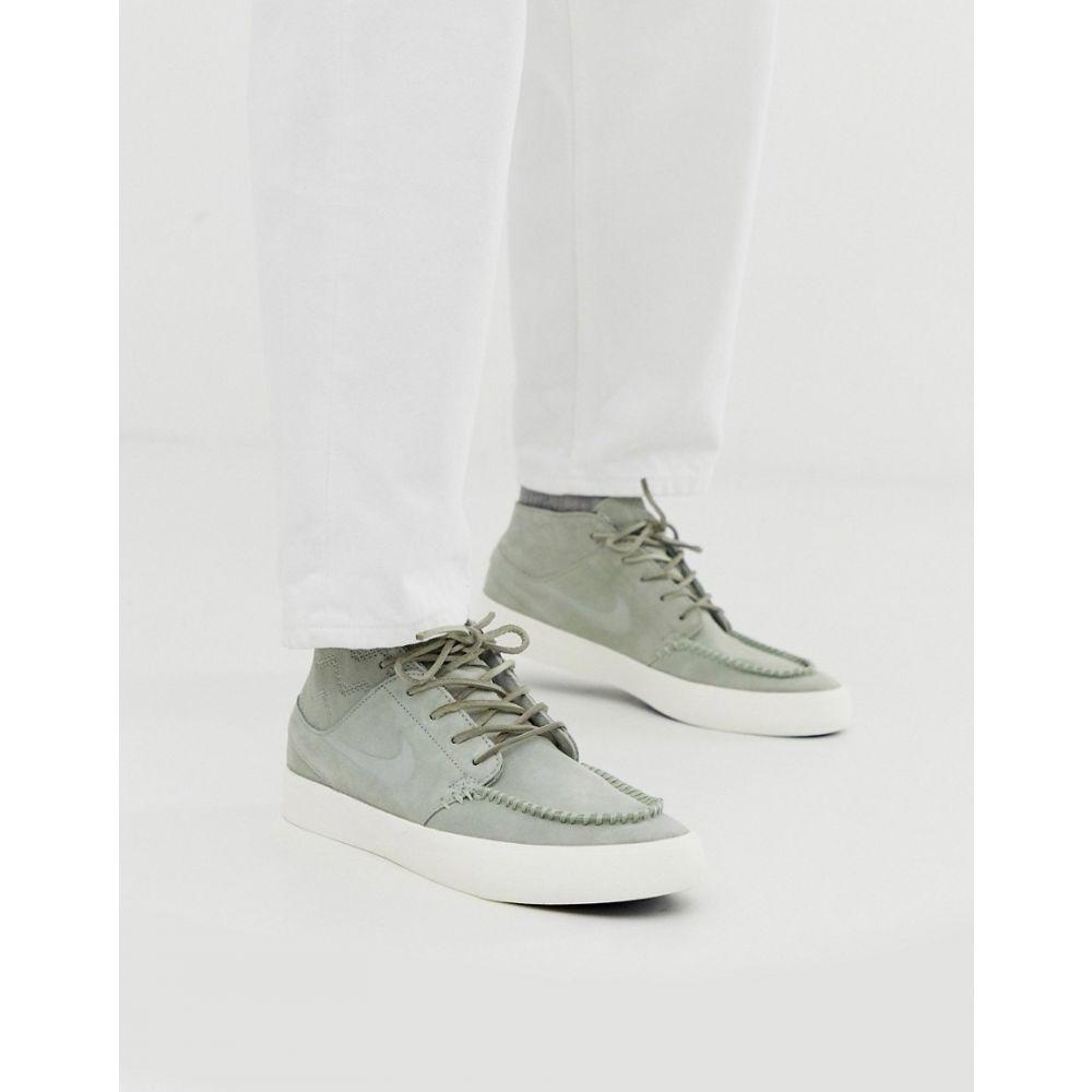 ナイキ Nike SB メンズ スニーカー シューズ・靴【Crafted Zoom Janoski mid trainers in grey】Grey