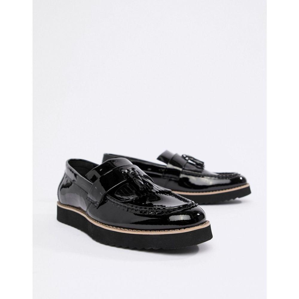 トリュフコレクション Truffle Collection メンズ ローファー シューズ・靴【Patent Tassel Loafers】Black
