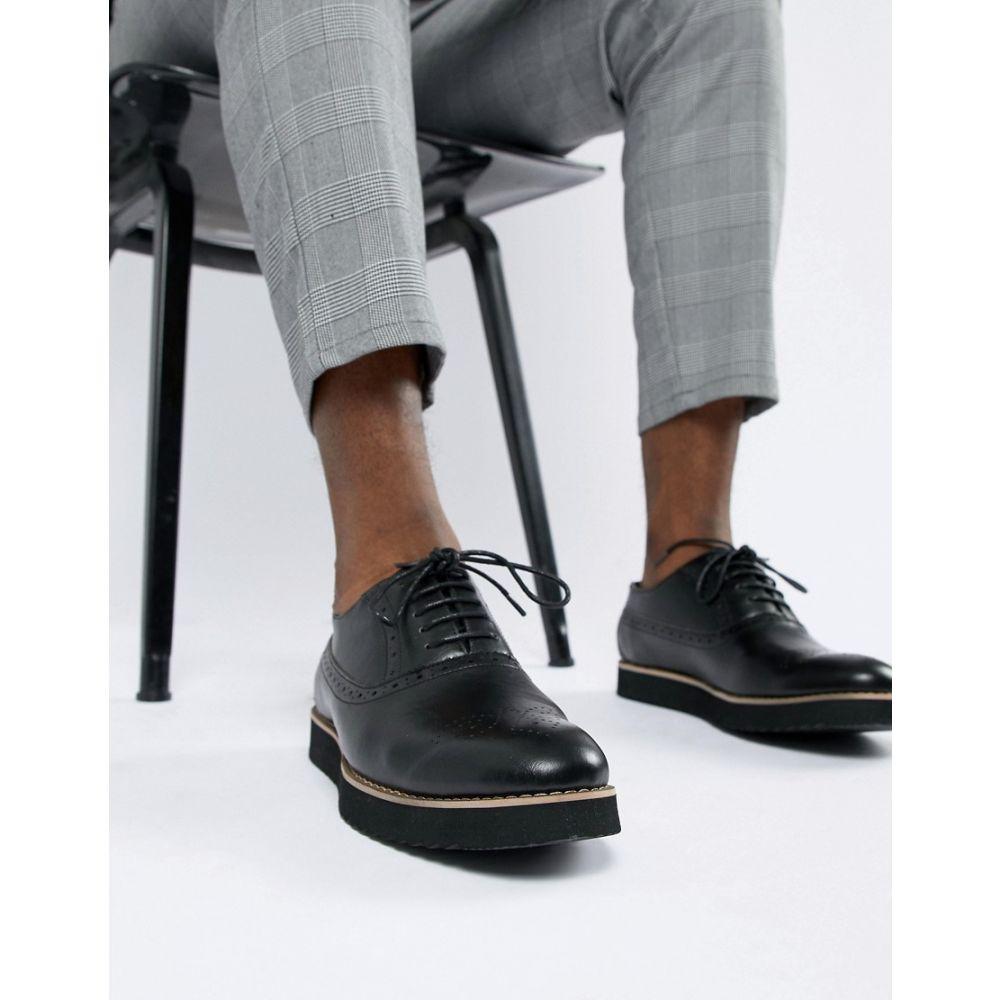 トリュフコレクション Truffle Collection メンズ 革靴・ビジネスシューズ メダリオン シューズ・靴【Patent Brogues】Black